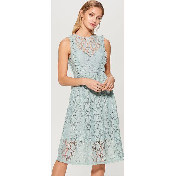 3ae70a4b84 Koronkowa sukienka bez rękawów - Niebieski - Sukienki damskie marki ...