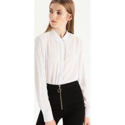 Koszula z koronką - Kremowy. Białe koszule damskie Sinsay, w koronkowe wzory, z koronki. Za 59.99 zł.