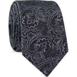 Krawat jedwabny KWSR000323. Szare krawaty i muchy Giacomo Conti, w jednolite wzory, z jedwabiu, eleganckie. Za 129.00 zł.