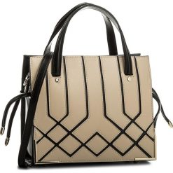 Torebka KAZAR - Nevada 33183-01-36 Beige/Black. Brązowe torebki do ręki damskie Kazar, w paski, ze skóry. W wyprzedaży za 529.00 zł.