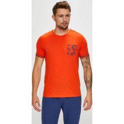 U.S. Polo - T-shirt. Czerwone koszulki polo męskie U.S. Polo, z nadrukiem, z bawełny. W wyprzedaży za 129.90 zł.