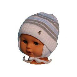 Czapka niemowlęca podszyta bawełną cz-059A biała. Czapki dla dzieci marki Reserved. Za 29.56 zł.