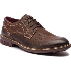 Półbuty CANGURO - A187-100 Dark Brown/Scotch. Brązowe półbuty na co dzień męskie Canguro, z materiału. Za 209.00 zł.
