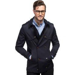 Płaszcz ALVARO PSGS000056. Czerwone płaszcze męskie Giacomo Conti, z bawełny, klasyczne. Za 799.00 zł.