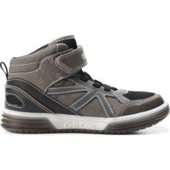 """Sneakersy """"Argonat"""" w kolorze szarym. Szare trampki i tenisówki chłopięce Geox Kids, z gumy. W wyprzedaży za 165.95 zł."""