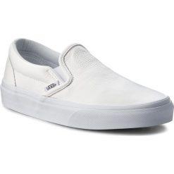Tenisówki VANS - Classic Slip-On VN000XG8EW8 (Premium Leather) Trwht/Mo. Białe trampki męskie Vans, z gumy. W wyprzedaży za 179.00 zł.