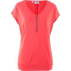 T-shirt z zamkiem, krótki rękaw bonprix koralowy. T-shirty damskie marki DOMYOS. Za 54.99 zł.