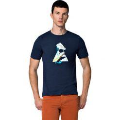 Koszulka Granatowa Jerry. Niebieskie t-shirty i topy dla dziewczynek LANCERTO, z nadrukiem, z bawełny. W wyprzedaży za 59.90 zł.