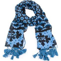 Chusta TWINSET - Sciarpa OS8T2A  St. Mix Genziana 02529. Niebieskie szaliki i chusty damskie Twinset, z bawełny. W wyprzedaży za 199.00 zł.