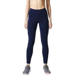 Adidas Legginsy Sportowe Ess Linear Tight Collegiate Navy/White Xl. Białe legginsy damskie Adidas, ze skóry. W wyprzedaży za 89.00 zł.