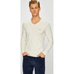 Tommy Hilfiger - Longsleeve. Szare bluzki z długim rękawem męskie Tommy Hilfiger, z bawełny, polo. Za 159.90 zł.