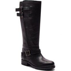 Oficerki CLARKS - Adelia Dusk 261379664 Black Leather. Czarne kozaki damskie Clarks, z materiału. W wyprzedaży za 679.00 zł.