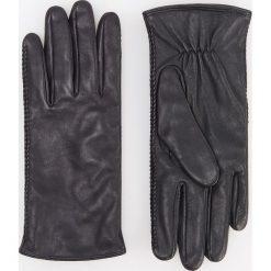 Skórzane rękawiczki - Czarny. Rękawiczki damskie marki B'TWIN. Za 99.99 zł.