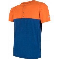 Sensor T-Shirt Męski Z Guzikami Merino Air Pt Pomarańczowo-Niebieski L. Brązowe t-shirty męskie Sensor, z dzianiny. Za 215.00 zł.