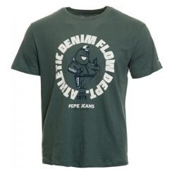 Pepe Jeans T-Shirt Męski Beebe M Ciemnoszary. Szare t-shirty męskie Pepe Jeans, z jeansu. Za 195.00 zł.