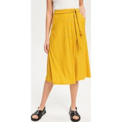 bd4731e9 Plisowana spódnica midi - Żółty