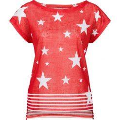 T-shirt bonprix truskawkowo-biały z nadrukiem. T-shirty damskie marki DOMYOS. Za 29.99 zł.