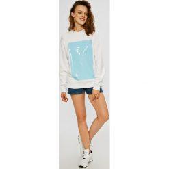 Calvin Klein Jeans - Bluza. Brązowe bluzy damskie Calvin Klein Jeans, z nadrukiem, z bawełny. W wyprzedaży za 319.90 zł.