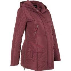 Płaszcz ciążowy pikowany z regulacją obwodu bonprix czerwony klonowy. Płaszcze damskie marki FOUGANZA. Za 139.99 zł.