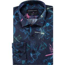 Koszula SIMONE slim KDWS000382. Niebieskie koszule męskie Giacomo Conti, z bawełny, z włoskim kołnierzykiem. Za 199.00 zł.
