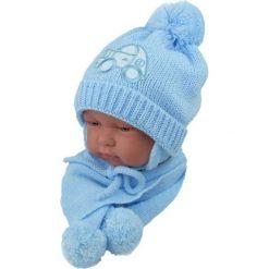 Czapka niemowlęca z szalikiem CZ+S 001C niebieska. Czapki dla dzieci marki Reserved. Za 38.76 zł.