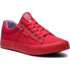 Tenisówki BIG STAR - AA174093 Red. Czerwone trampki męskie Big Star, z gumy. Za 99.00 zł.
