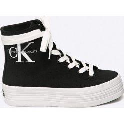 Calvin Klein Jeans - Trampki. Szare trampki i tenisówki damskie Calvin Klein Jeans, z gumy. Za 399.90 zł.