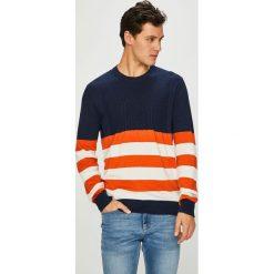 Pepe Jeans - Sweter. Szare swetry przez głowę męskie Pepe Jeans, z bawełny, z okrągłym kołnierzem. Za 319.90 zł.