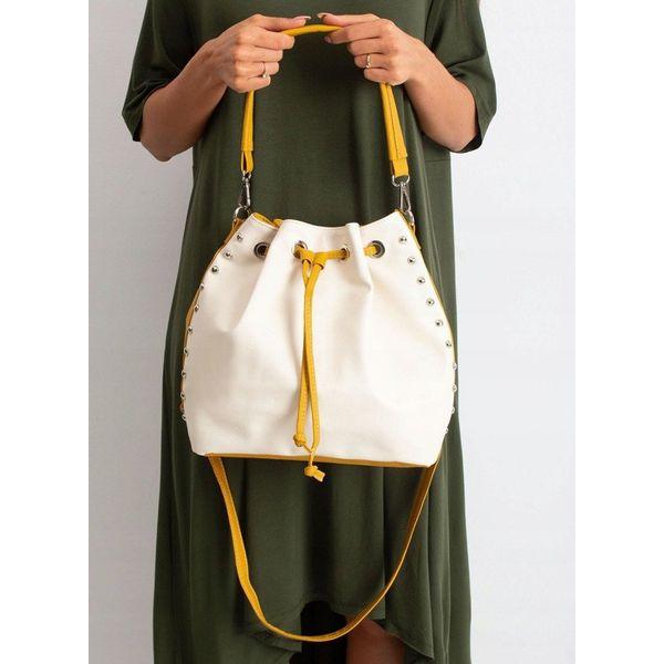Torebka damska shopper bag worek 0004 ecru ecru