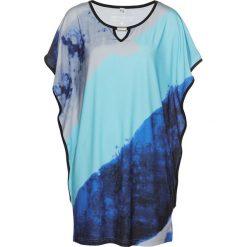 Tunika shirtowa bonprix ciemnoniebieski z nadrukiem. Tuniki damskie marki bonprix. Za 99.99 zł.