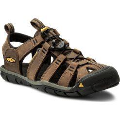 Sandały KEEN - Clearwater Cnx Leather 1013106 Dark Earth/Black. Brązowe sandały męskie Keen, z materiału. W wyprzedaży za 299.00 zł.