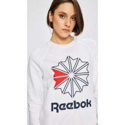 Reebok Classic - Bluza. Szare bluzy damskie Reebok Classic, z nadrukiem, z bawełny. W wyprzedaży za 149.90 zł.