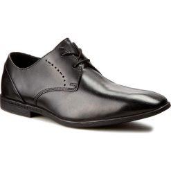 Półbuty CLARKS - Bampton Lace 261197957 Black Leather. Czarne eleganckie półbuty Clarks, z materiału. W wyprzedaży za 179.00 zł.