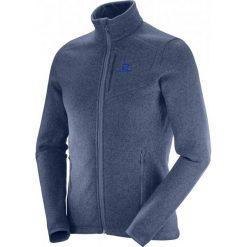 Salomon Bluza Polarowa Bise Fz M Dress Blue/Night Sky S. Niebieskie bluzy męskie Salomon, z polaru. W wyprzedaży za 349.00 zł.