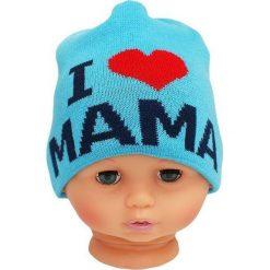 Czapka niemowlęca z napisem mama CZ 161C niebieska. Czapki dla dzieci marki Reserved. Za 30.75 zł.