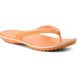 Japonki CROCS - Crocband Flip 11033 Blazing Orange/White. Brązowe klapki damskie Crocs, z materiału. Za 119.00 zł.