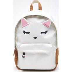 Plecak kot z uszami - Kremowy. Białe plecaki damskie Cropp. W wyprzedaży za 39.99 zł.