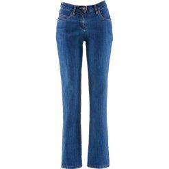 Wygodne dżinsy ze stretchem STRAIGHT bonprix niebieski. Jeansy damskie marki bonprix. Za 69.99 zł.