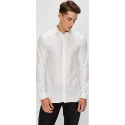 Premium by Jack&Jones - Koszula. Szare koszule męskie Premium by Jack&Jones, z bawełny, z włoskim kołnierzykiem, z długim rękawem. W wyprzedaży za 159.90 zł.