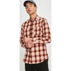 Jack & Jones - Koszula. Różowe koszule męskie Jack & Jones, w kratkę, z bawełny, z włoskim kołnierzykiem, z długim rękawem. W wyprzedaży za 139.90 zł.