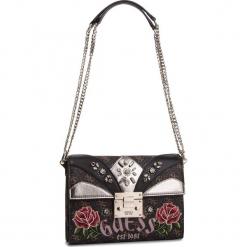 Torebka GUESS - HWLF71 83210 BLACK MULTI. Czarne torebki do ręki damskie Guess, z aplikacjami, ze skóry ekologicznej. Za 679.00 zł.