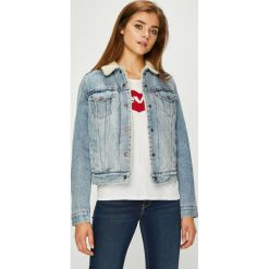 Levi's - Kurtka jeansowa. Brązowe kurtki damskie Levi's, z bawełny. Za 469.90 zł.