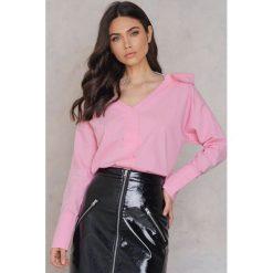 Trendyol Koszula z ozdobną siateczką - Pink. Różowe koszule damskie Trendyol, z bawełny. W wyprzedaży za 36.59 zł.