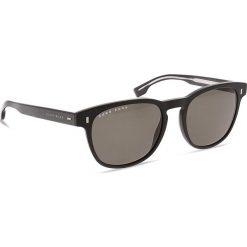 Okulary przeciwsłoneczne BOSS - 0927/S Matt Black 003. Czarne okulary przeciwsłoneczne męskie Boss, z tworzywa sztucznego. W wyprzedaży za 489.00 zł.