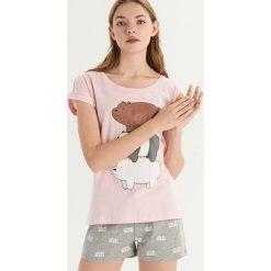 Piżama We bare bears - Różowy. Czerwone piżamy damskie Sinsay. Za 49.99 zł.