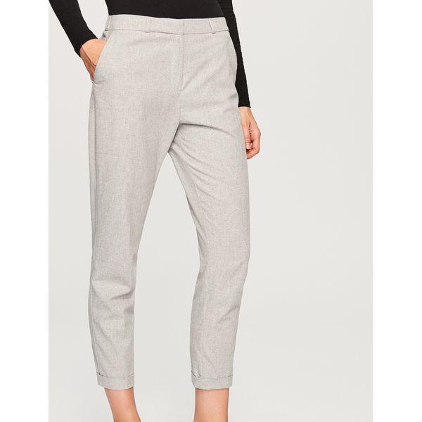 a60ce9c8c18a4 Garniturowe spodnie - Jasny szar - Eleganckie spodnie męskie marki ...