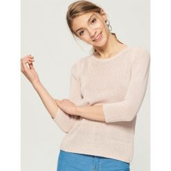 Sweter basic - Różowy. Czerwone swetry damskie Sinsay. Za 39.99 zł.