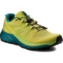 Buty SALOMON - Sense Ride 402501 28 V0 Sulphur Spring/Lime Green/Deep Lake. Zielone buty sportowe męskie Salomon, z materiału. W wyprzedaży za 389.00 zł.