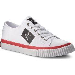 Trampki CALVIN KLEIN JEANS - Iziceio S1731 White. Białe trampki męskie Calvin Klein Jeans, z gumy. Za 469.00 zł.