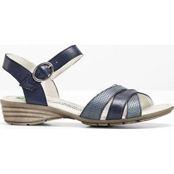 a9fff922 Wygodne sandały skórzane bonprix ciemnoniebieski - Sandały damskie ...